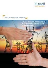 CASE STUDY: VALERO ENERGY CORPORATION - Micro Focus