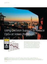 Using Decision Support to Reduce OpEx at Valero Paulsboro - GE ...