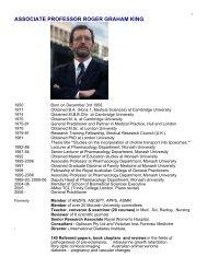 associate professor roger graham king - Faculty of Medicine ...