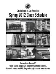 Spring 2012 Class Schedule - City College of San Francisco