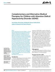 Complementary and Alternative Medical Therapies for Children with ...