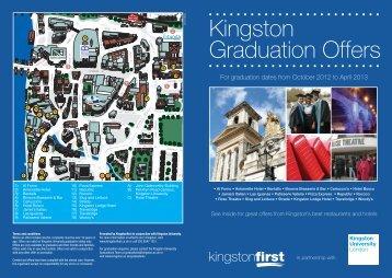 Kingston Graduation Offers - Kingston University London