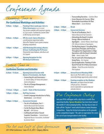 Conference Sessions and Activities - International Policy ...