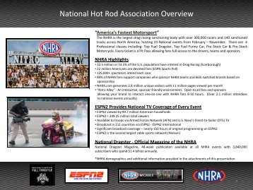 National Hot Rod Association Overview - Valerie Thompson Racing