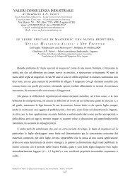 s pecial m agnesium a lloys : a n ew f rontier - Valeri Consulenza ...