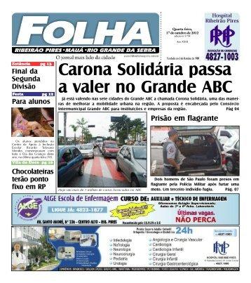 Carona Solidária passa a valer no Grande ABC - Folha Ribeirão Pires