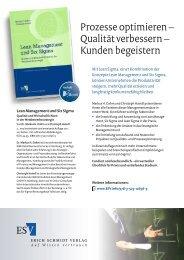 Prospekt - Erich Schmidt Verlag