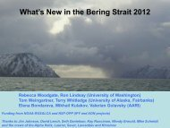 What's New in the Bering Strait 2012 Rebecca Woodgate ... - ASOF