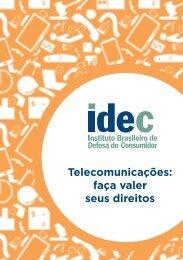 Telecomunicações: faça valer seus direitos - Idec