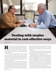 Dealing with surplus material in cost-effective ways - Basin Electric ...