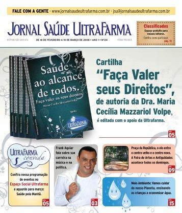 """""""Faça Valer seus Direitos"""", - Jornal Saúde UltraFarma"""