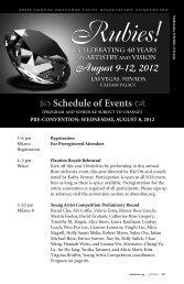 Rubies! August 9-12, 2012 - National Flute Association