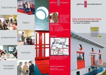 Glatthaar_Innovationsforum (PDF) - Glatthaar Fertigkeller GmbH