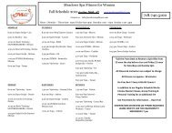 Meadows Spa Fitness for Women Fall Schedule 2012