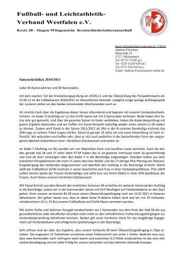 Verband Westfalen e.V. Fußball- und Leichtathletik- - FLVW-Kreis ...