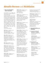 Aktuelle Normen und Richtlinien - VBD