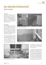 Der aktuelle Schadensfall - Wasser im Keller - VBD