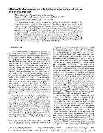 Effective bridge spectral density for long-range biological energy ...