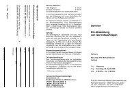 Seminar Die Abwicklung von Gerichtsaufträgen - VBD