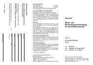 Seminar Markt- und Beleihungswertermittlung für die ... - VBD