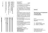 Seminar Wärmeschutz und Energiebedarf nach EnEV 2009 ... - VBD