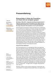 Pressemitteilung - GfK