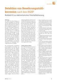 Detektion von Bewehrungsstahl - korrosion - VBD