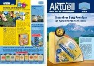 Gmundner Berg Premium ist Käseweltmeister 2010 - Gmundner Milch