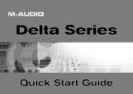 Delta Series Quick Start Guide - M-Audio