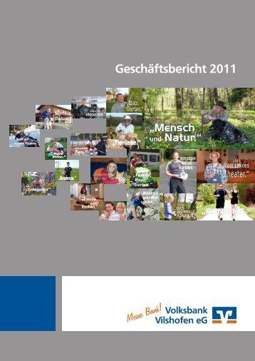 Geschäftsbericht 2011 - Volksbank Vilshofen eG