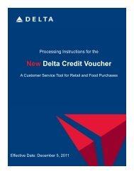 New Delta Credit Voucher