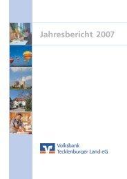 gekürzte Wiedergabe - Volksbank Tecklenburger Land eG