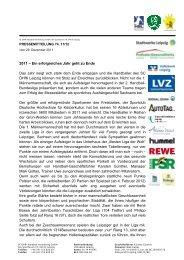 PM 74 SC DHfK Handball - SC DHfK Leipzig eV