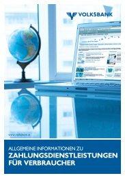 führung von zahlungs - Volksbank Wien AG