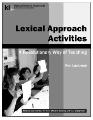 Lexical Approach Activities - Ken Lackman