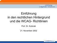 Vortrag Herr Prof. Kubicek (350 KB) - Stiftung Digitale Chancen