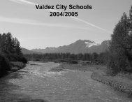 Parent and Community Volunteers: WE NEED YOU - Valdez City ...