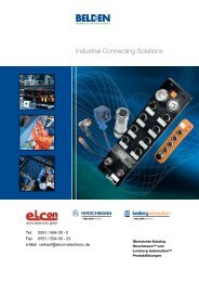 Industrial Connecting Solutions - elcon electronic gmbh