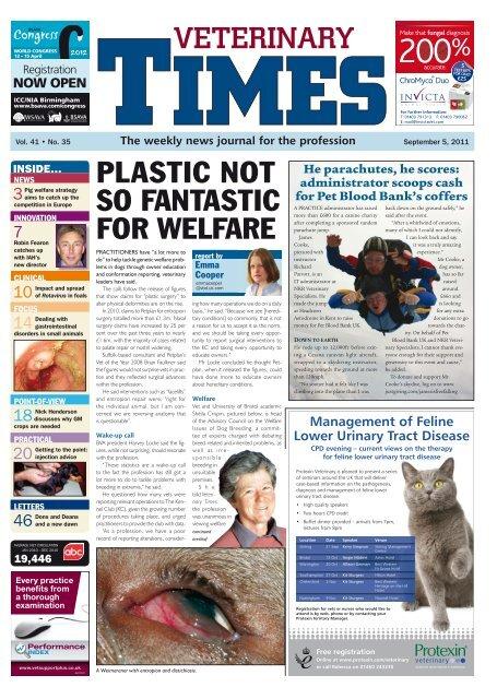 Veterinary Times September 5 2011 Vbd