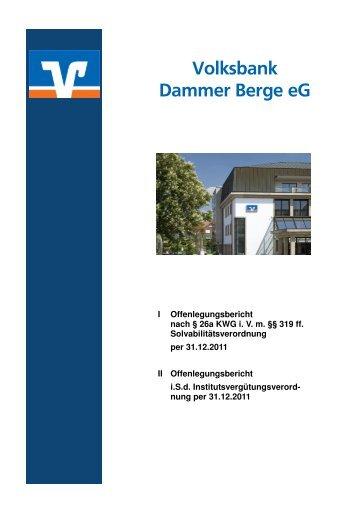 Abkürzungsverzeichnis - Volksbank Dammer Berge eG