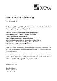 1:2000 Zonenplan - Gemeinde Davos