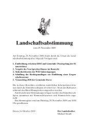 Landschaftsabstimmung - Gemeinde Davos