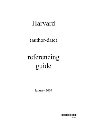 Reference guide harvard system of referencing - Carol Romine