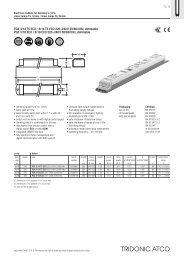 PCA 3/14 T5 ECO / 4/14 T5 ECO 220-;240 V 50/60/0 Hz ... - Tridonic