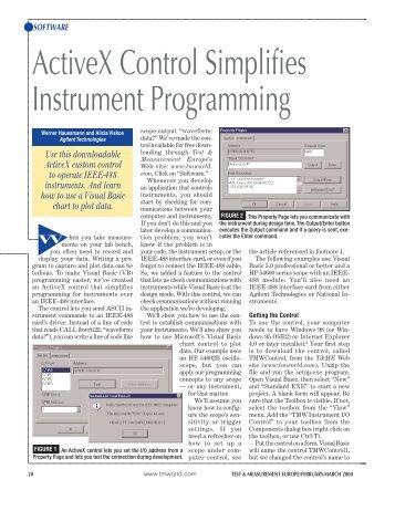 ActiveX Control Simplifies Instrument Programming - Agilent ...