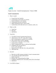Topics to cover – Serial Communication / Vision / HMI - Intelligent ...