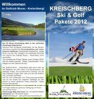 KREISCHBERG Ski & Golf Pakete 2012 Willkommen im Golfclub ...