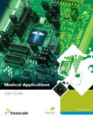 Medical Applications User Guide (pdf) - Freescale Semiconductor