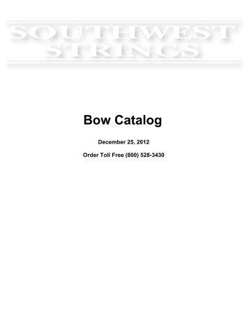 Southwest Strings Bow Catalog