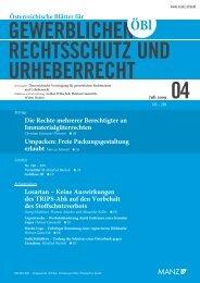 Umpacken: Freie Packungsgestaltung erlaubt ... - Graf & Pitkowitz